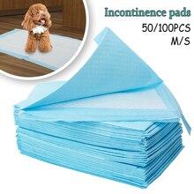 50/100 шт собака супер абсорбент ПЭТ пеленки одноразовые Здоровый чистый подгузник коврик для домашних животных молочных пеленки расходные материалы