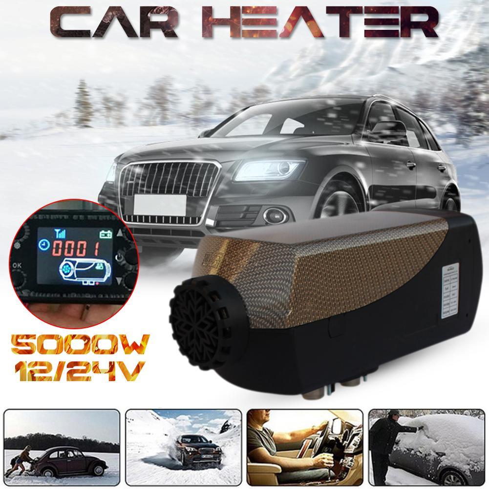 Auto Riscaldatore 5KW 12 V/24 V Aria Diesel Riscaldatore di Parcheggio Attrezzature di Riscaldamento Con Telecomando di Controllo di Calore + LCD monitor + Tubo Di Scarico