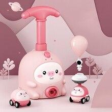 P15C 1PC Pull Back Car Baby Aerodynamic Car Toy Cartoon Animal Model Toy for Baby Boys Girls Balloon Inflator Toy Wind-up Car