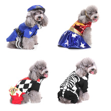 dog wizard costume puppy clothes pet Halloween Funy christmas Elf hat police Cosplay Dress Cloth For Dogs