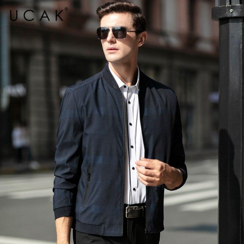 UCAK Brand Jacket Men Spring Autumn New Arrival Jackets Free Shipping Clothes 2020 Fashion Style Zipper Chaquetas Hombre U8040
