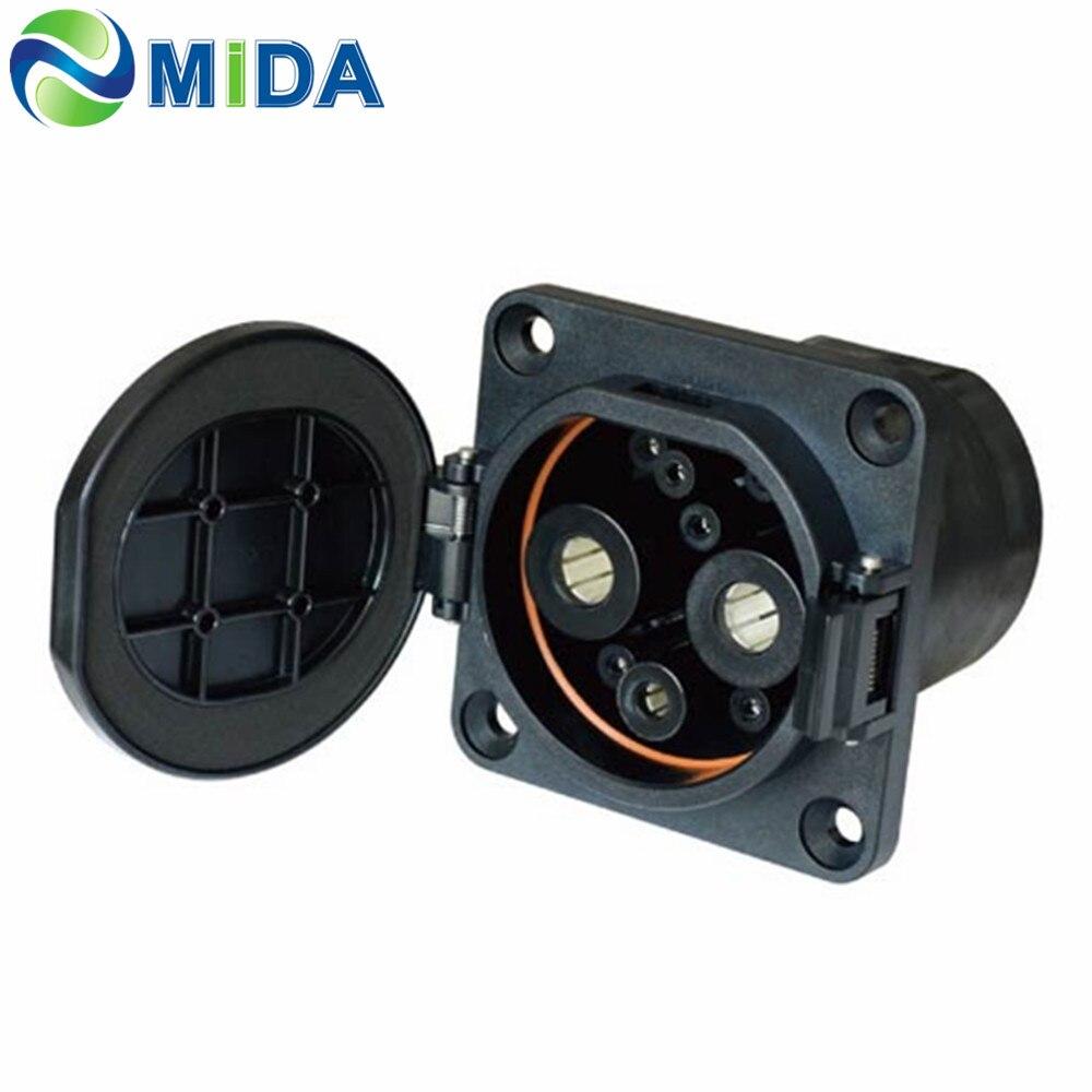 Китай стандарт EV зарядное устройство штекер 200Amp зарядное гнездо постоянного тока Электрический автомобильный разъем зарядного устройства