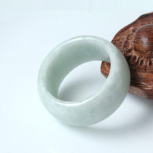 Hot Sell Natural Emerald Ring Jade Charm Jewellery Fashion Accessories Hand-Carved Man Woman Luck Amulet Gifts(China)
