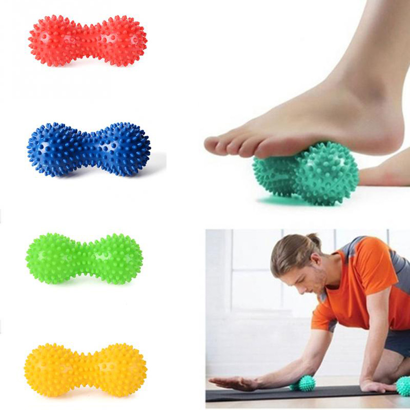 Peanut Fitness Massage Ball Spiky Trigger Point Relief Muscle Pain Stress Peanut Ball Therapy Health Care Muscle Relex Apparatus