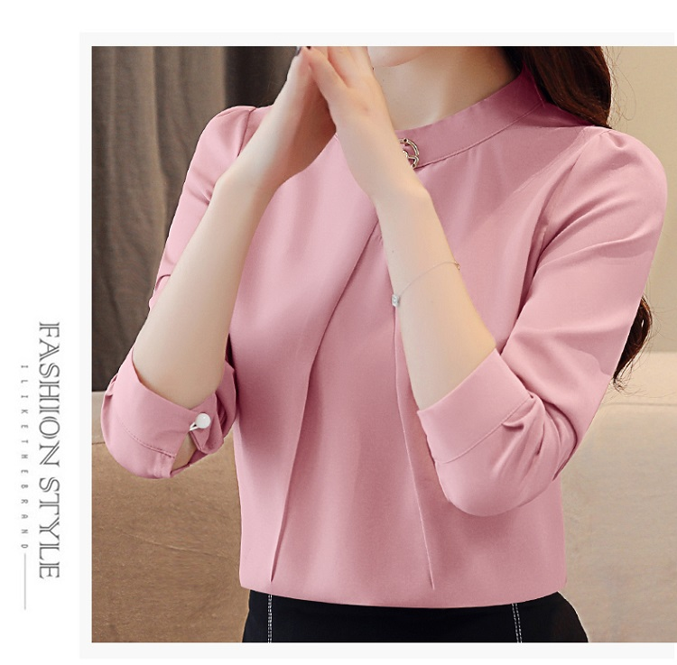 fashion woman blouses 2020 long sleeve chiffon blouse shirt long sleeve women shirts womens tops and blouses blusas femininas 8