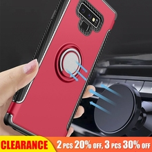 [Clearance] For Samsung Galaxy Note 9 Luxury Magnetic Metal Case For Samsung Note 9 Hard PC+Silicone Shockproof Full Cover Case зажигалки zippo z 254b