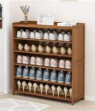 Cremalheira de sapato doméstico interior boa aparência simples porta do agregado familiar multi-camada de armazenamento à prova de poeira armário de sapato econômico