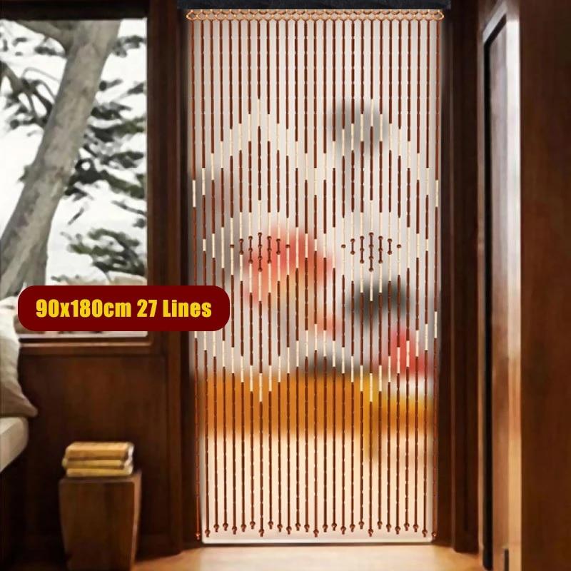 stores de rideau de porte en perles de bambou 27 lignes perles en bois de bambou brise brise pour porche chambre a coucher salon salle de bain
