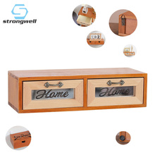 Strongwell Nordic Retro Wooden Drawer Storage Cabinet Singlelayer Multifunction Jewelry Box Home Decoration Accessories