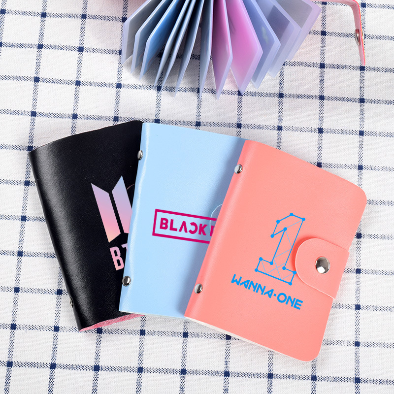 BLACKPINK Related BTS Card Bag GOT7 Celebrity Inspired Monsta X-Style Cute Bank Card Bag Korean-style Card Bag