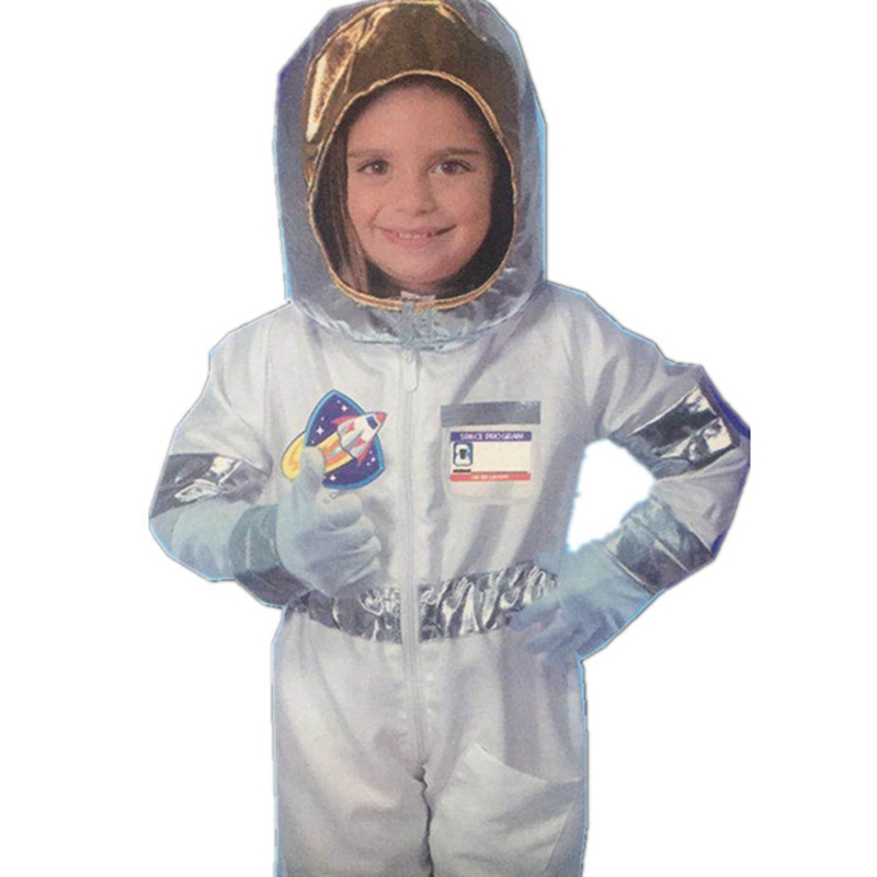 Children's Space Man Performing Suit School Astronaut Costumes Cosmonaut Cosmetic Party Clothing With Headwear/Gloves