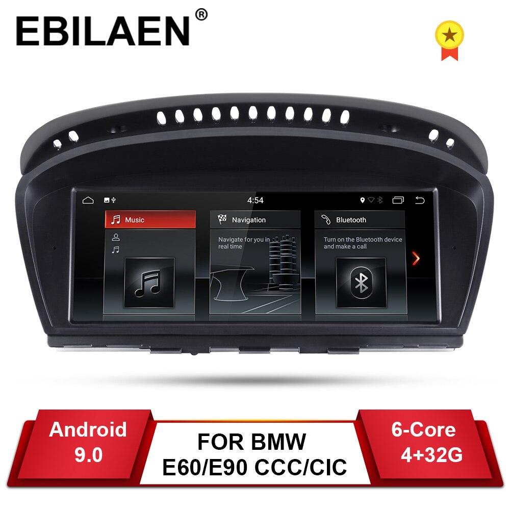 EBILAEN Android 9.0 Rádio Do Carro DVD Jogador Auto para BMW série 5 E60 E61 E62 E63 3 series E90 E91 CCC/CIC Navegação Multimídia