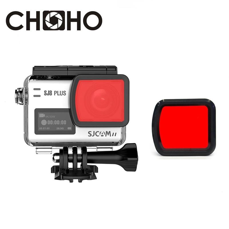 SJ8 Camera Accessories Diving Filter Red Waterproof Housing Case Underwater Dive Filtors For SJCAM SJ8 sj8Plus SJ8Pro SJ8Air