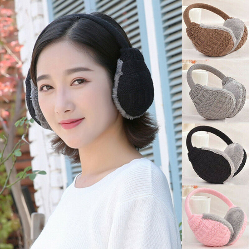 Brand New 2019 Fashion Women Girl Fur Knitted Winter Ear Warmer Earmuffs Earlap Glitter Sequin Earmuffs Headband Newest