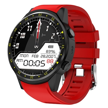 Hot 3C-GPS Smart Watch Men with SIM Card F1 Smart Watches Heart Rate Detection Sport Phone Connected Watch Android IOS Clock Red