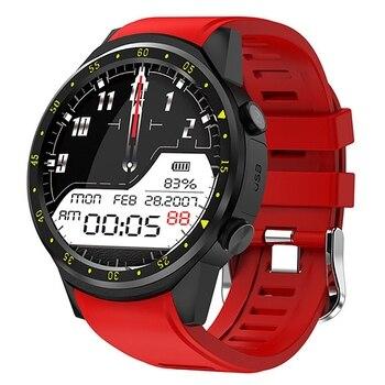 Reloj inteligente Hot 3C-GPS para hombre con tarjeta SIM F1, relojes inteligentes con detección de frecuencia cardíaca, reloj deportivo conectado con teléfono Android IOS, reloj rojo