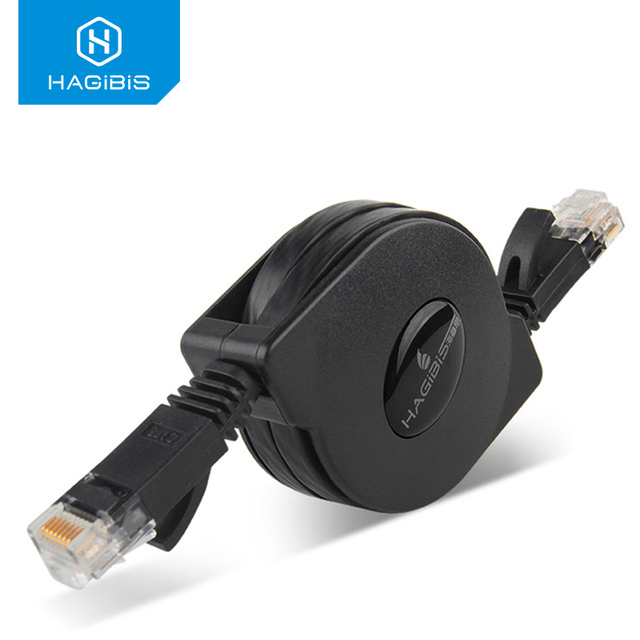Hagibis Network Cable Cat6 Retractable Lan Cable RJ45 Cable Ethernet Patch Cord 1.5m For XBox PS2 PS3 Router Laptop CAT6 Cable