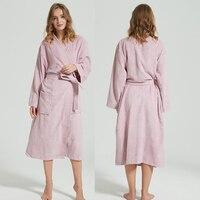 Winter Bathrobe Women Thick Warm Female Towel Fleece Kimono Robe Lovers Couple Nightgown Bath Gown Sleepwear Large Nightwear