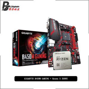 AMD Ryzen 5 3500X R5 3500X CPU + GA B450M GAMING Motherboard Suit Socket AM4 CPU + Motherbaord Suit Socket AM4 Without cooler