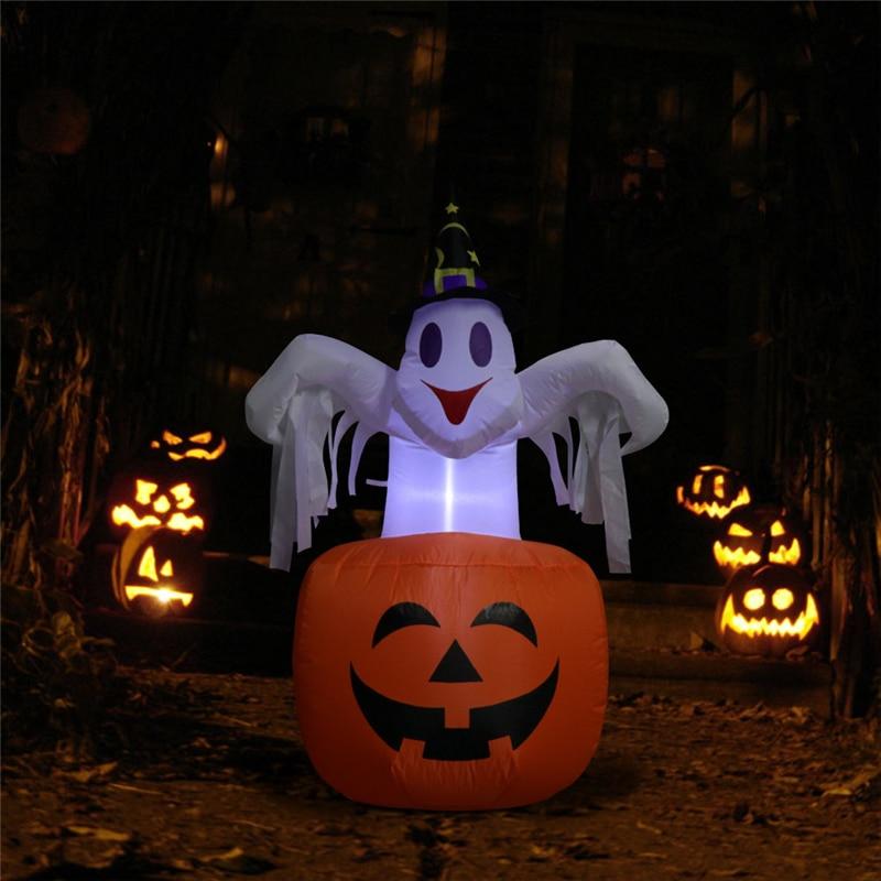 1.5 m White Ghost Halloween Decoration Halloween Inflatable Air Mold Halloween Pumpkin Air mold Smiling Pumpkin Decoration|Party DIY Decorations|   - AliExpress