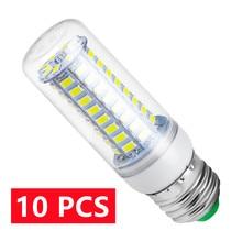 Lâmpada Led E14 220V GU10, Lâmpada led vela E27, lâmpada milho G9 Led 3W 5W 7W 9W 12W 15W bombilla B22, iluminação de candelabro 240V