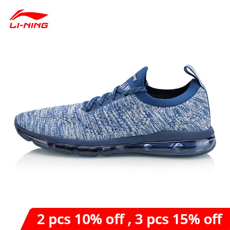 Li-Ning <font><b>Men</b></font> BUBBLE MAX KNIT Lifestyle <font><b>Shoes</b></font> Breathable Wearable <font><b>LiNing</b></font> li ning Comfort Sport <font><b>Shoes</b></font> Sneakers AGLN055 YXB163 image