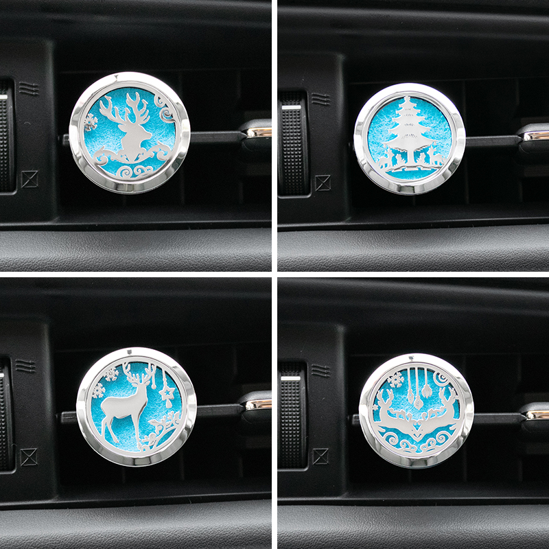 Auto Interior Decoration Aroma Fragrance Christmas Gift Car Air Freshener Holder Accessories For Flavoring Perfume Smell Scent Pakistan
