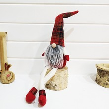 Pretty Christmas Decoration Sitting Long Leg doll For Home New Year Gift for Children Merry
