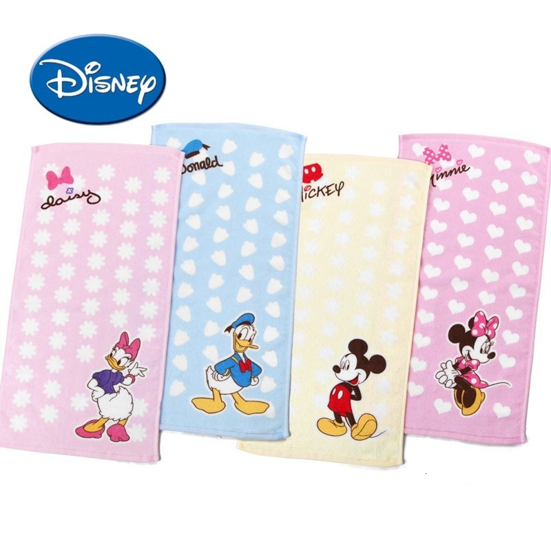 Disney Baby Towel  Kids Pure Cotton Bath Towel Cartoon Wash Hand Towel For Newborns Soft FaceTowel 25x50cm
