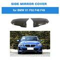 Защитные колпачки для зеркала заднего вида автомобиля для BMW 1 серии F52 X1 F48 F49 2016-2019 замена углеродного волокна