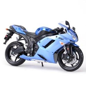 Image 5 - Maisto 1:12 Kawasaki Ninja ZX 6R Blauw Gegoten Voertuigen Collectible Hobby Motorfiets Model Speelgoed