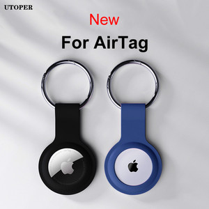 Image 2 - For Apple Airtag Liquid Silicone Protective Case For Apple Locator Tracker Anti lost Device Keychain Protective Sleeve Case Hot
