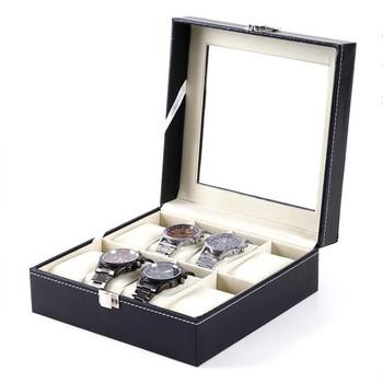 3 4 5 6 8 siatki Watch Box PU Leather Watch pojemnik do przechowywania organizator dla mężczyzn zegarek kwarcowy pudełka na biżuterię wyświetlacz najlepszy prezent tanie i dobre opinie NieNie CN (pochodzenie) Pudełka do zegarków DRESS Nowość bez znaczków Jewelry Boxes Case Display Rectangle 18cm Skórzane