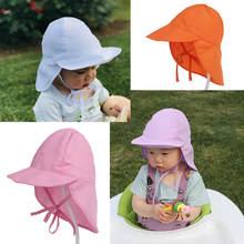 Summer baby sun hat UV protection neck hat beach sun hat children outdoor activity fisherman hat