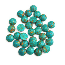 20PCS Natural Stones Blue turquoise Jade Stone Cabochon No Hole Beads for Making Jewelry DIY Ring accessories Scattered beads