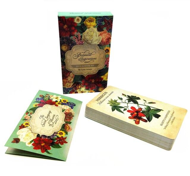 Inspiration botanique Oracle cartes 45 pièces carte Tarot avec guide anglais complet créatif ami partie divertissement jeu de société