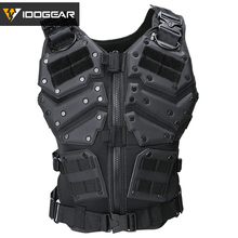 IDOGEAR Tactical Vest with Magazine Pouch Paintball Molle Body Black Army TF3 Vest