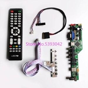 Kit de teclado para tela lcd, kit fit N173O6-L01/l02/l03/l04/l06, 17.3 polegadas, teclado + controle remoto lvds 40 placa de controle analógica de tv, hdmi + av + usb 1600*900