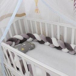 1 м/2 м/3M, смешанные цвета, детская кровать, бампер, плетеная подушка для игрушечной кроватки, подушка с узлом, подушка, подушка, детская кроват...