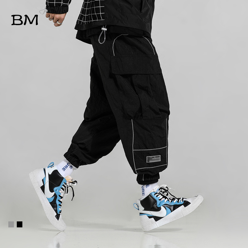 streetwear fashions pants men hip hop joggers modis trousers men korean style harem pants kpop black harajuku casual pants 2019