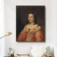 Canvas Art Oil Painting Portrait of a woman Baslemos van der hurst Art Poster Wall Decor Modern Home Decoration For Living room