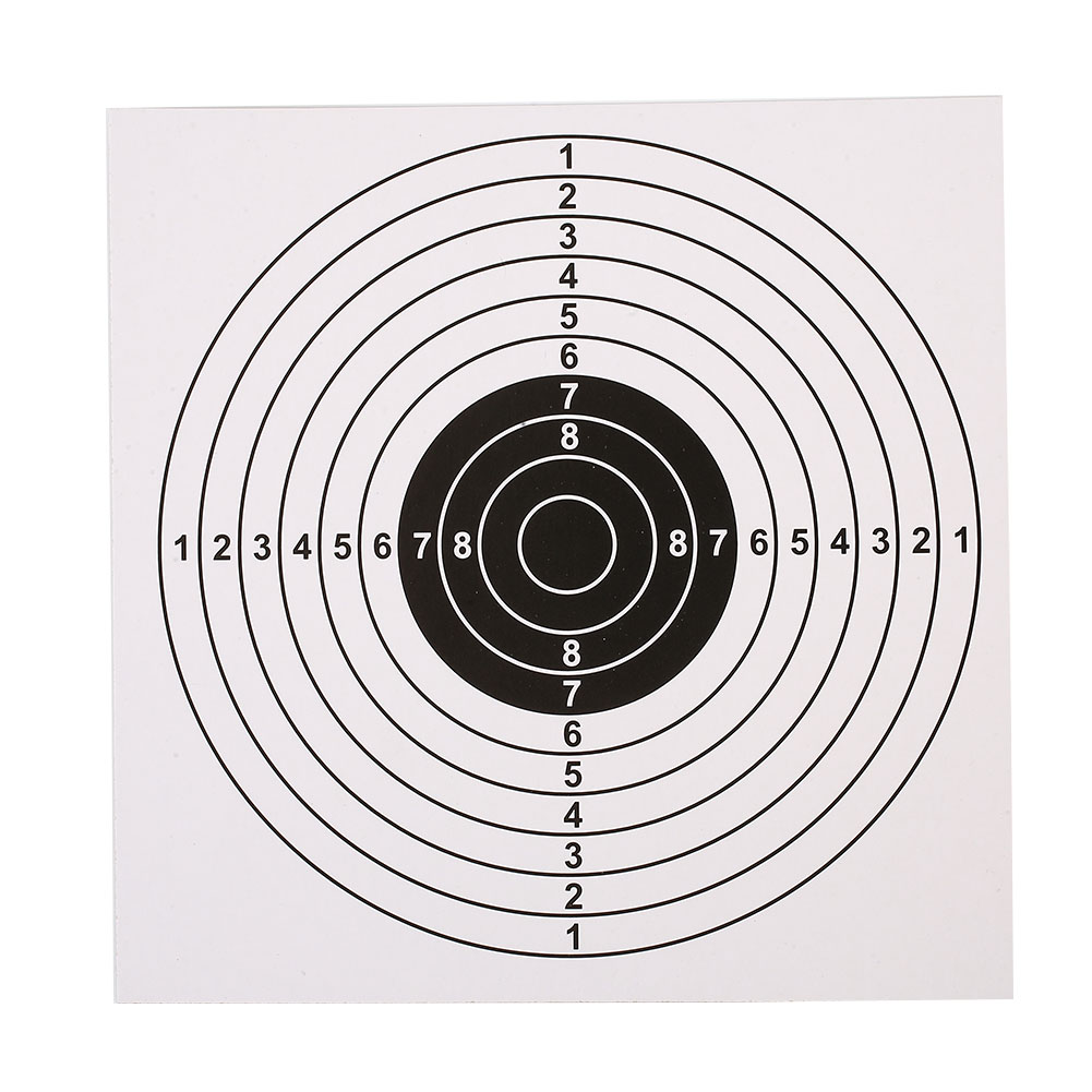 Shooting Target Paper Bow Arrow Gauge Sheet 100PCS/Set Training Card Archery Targets Pistol Rifle Black/White