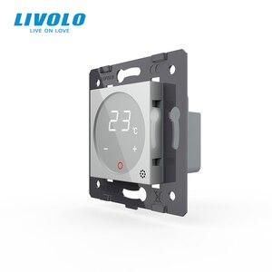 Image 2 - Livolo Thermostat, contrôle de température Standard ue (sans panneau en verre), dispositif de chauffage, prise 110 250V AC C7 01TM 11