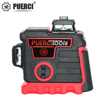 PUERCI P5CG Laser Level Self-Leveling 360 Horizontal And Vertical Cross Green 12 Lines Rotary 3D Level Laser Horizontal Vertical item high accuracy new self leveling rotary rotating laser level 500m range
