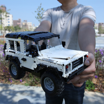 New 2020 Technic Series 2.4G Remote RC Car Moc Building Blocks Defender Off-Road Vehicles Compatible Lepin SUV Toys For Children lepin nexo knights axl jestros volcano lair combination marvel building blocks kits toys minifigures compatible nexu