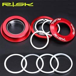 Risk lavadora de bicicleta, arruela de fone de ouvido para bicicleta com ajuste de nivelamento fino junta de ajuste 0.3/1/espaçador garfo gap 2/3mm