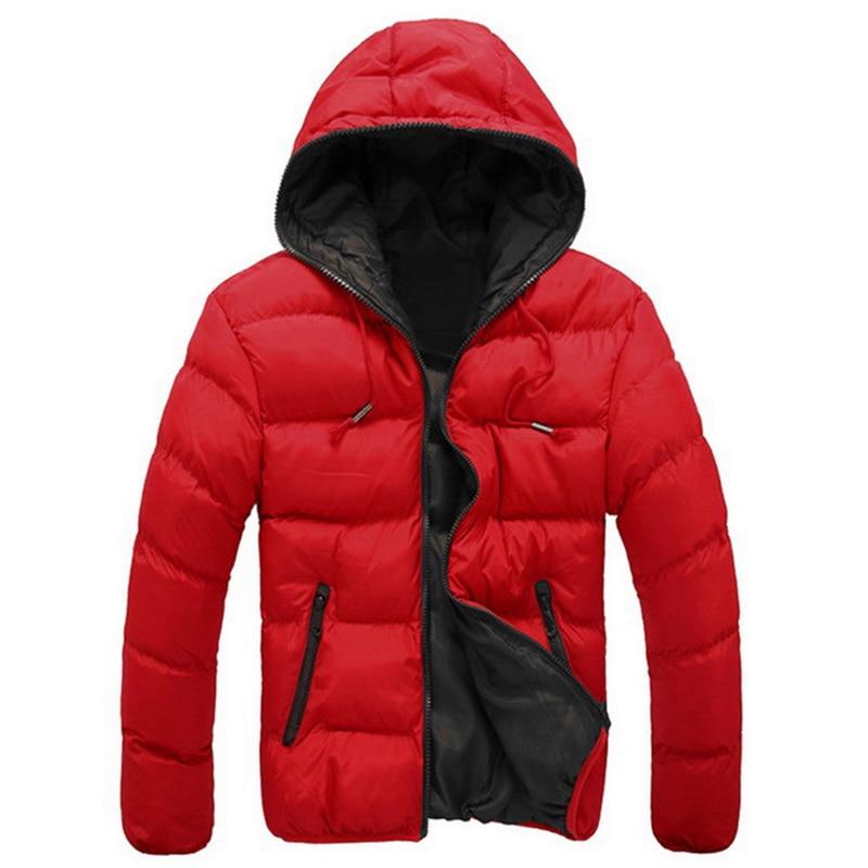 Candy Color Men's Parkas Hooded Men Parka Men's 2018 Clothes And Coats Fot Male Cotton Autumn And Winter Clothing