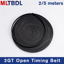 2/5meter GT2-6mm Open Timing Belt Width 6mm 10mm Rubber Material Pitch2mm black 2GT synchronous Belt For Reprap 3D Printer Parts wholesale 3d printer synchronous gt2 belt for reprap ultimaker other printer 1m length free shipping