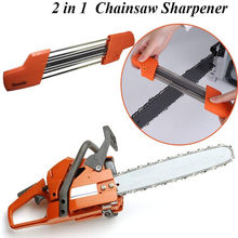 2 In 1 Easy File Chainsaw Chain Sharpener 3/8 P 4.0mm Saw Teeth Set Fast Sharpening With 2pcs 5/32 Inch Files Chain Sharpener(China)