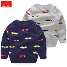 kids autumn spring pullover boys girls cartoon print knitted sweater children o-neck sweaters top clothing clothes